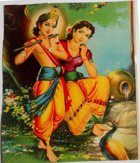 Flute radha and krishna