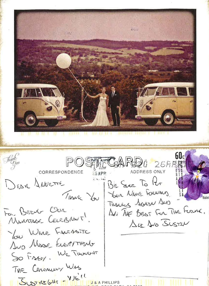 Thank you Postcard - Michell/Phillips Wedding March 2012