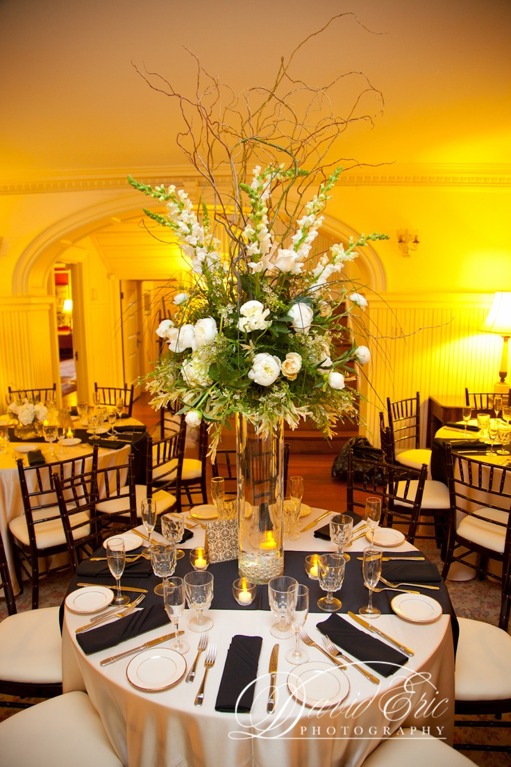 Centerpiece for reception at Lireodendrom in Bel Air, Maryland