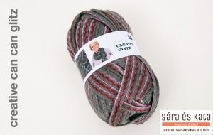 Creative Can Can Disco is a wonderful ruffle yarn. The 200g ball knits one beautifully long scarf.