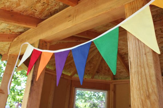 YW VALUES flag, pennant garland, young women girls' camp decoration -  6 1/2 feet