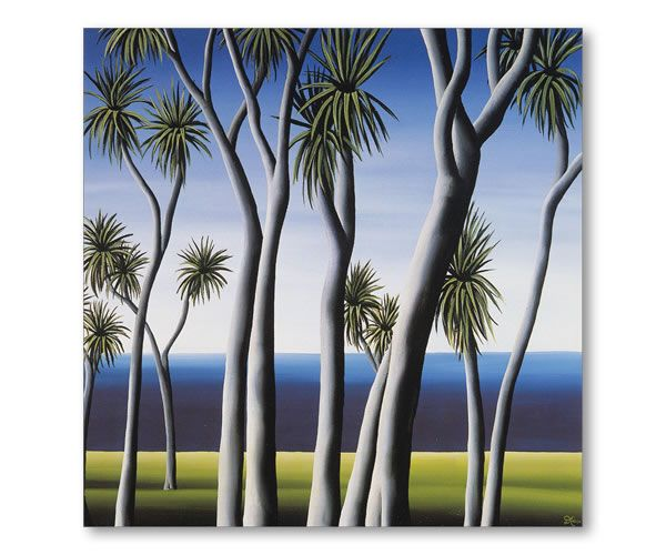 NZ Cabbage Tree. Diana Adams, NZ Artist.