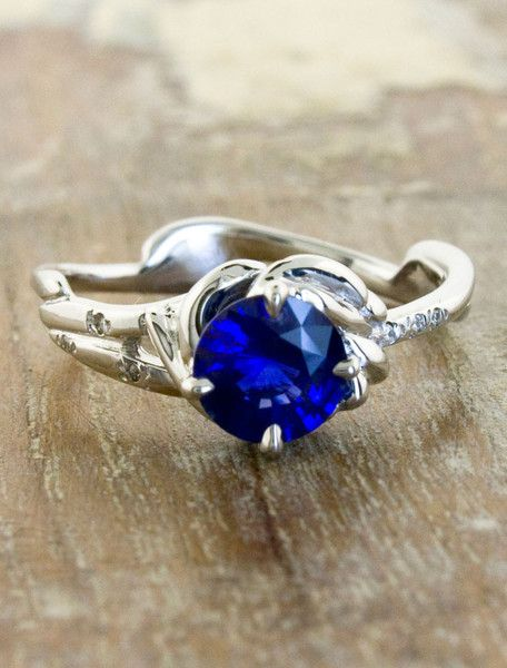 Unique Rings by Ken & Dana Design - Daya Sapphire top view