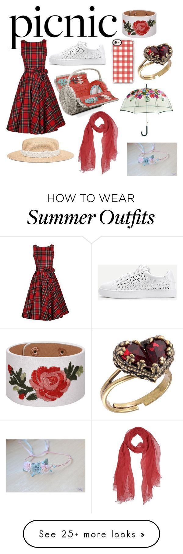 Summer Outfits : Picnic Outfit by sakura-chan-love on Polyvore featuring Eugenia Kim WithChic