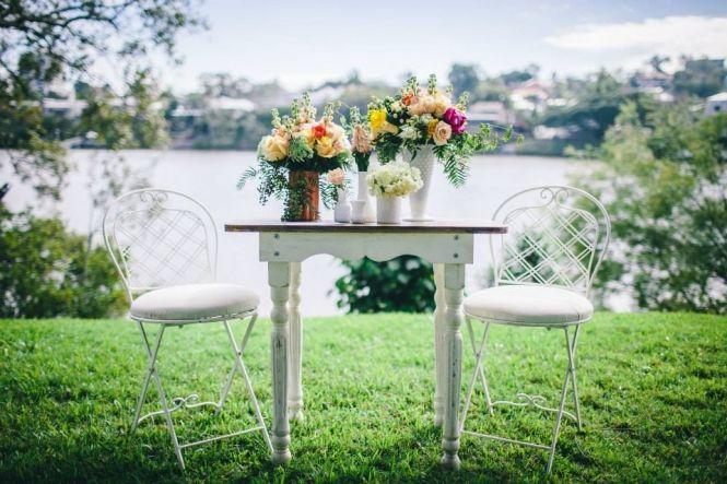 Vintage Bride ~ Vintage Chair Inspiration ~ Props from Hodgepodge Hire [hodgepodgehire.com.au] ~ [vintagebridemag.com.au] ~ #vintagebride #vintagewedding #vintagebridemagazine