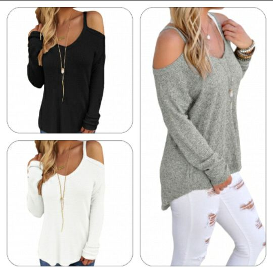 Cold Shoulder Knit Long Sleeves Sweater http://j.mp/cold-shoulder-sweater Utolso par darab!-Csapj le rá a készlet erejéig - fekete, feher es szurke színben #divat #fashion #tanitafashion #ruha #clothes