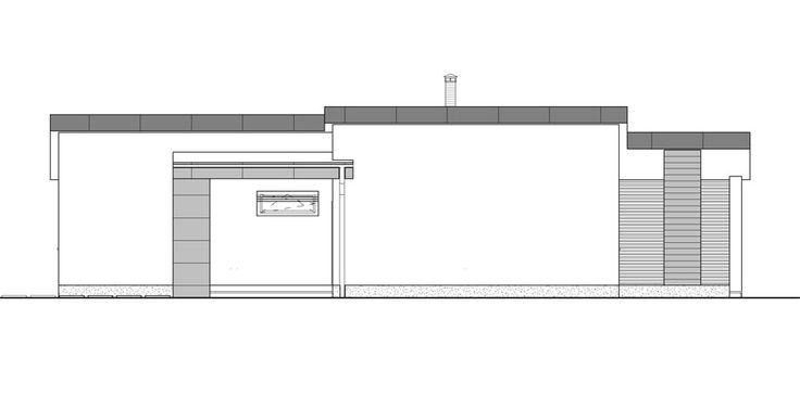 moderny bungalov pohlad od suseda /  ground plan / bungalow