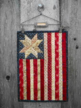 Red Rooster Quilts: Shop | Category: Kits | Product: One Star, One Nation Mini Flag Kit - RRQ Original
