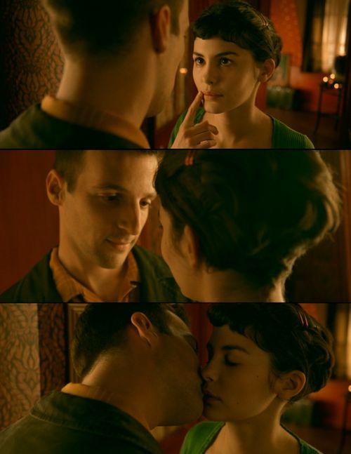 Best movie kiss. #Amelie