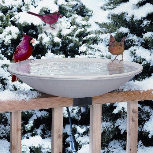 Allied Precision 20 in. EZ Deck Tilt and Clean Heated Bird Bath - Bird Baths at Hayneedle