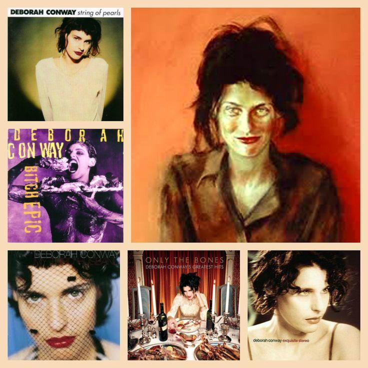 Collage of solo albums by Deborah Conway
