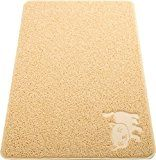 Smiling Paws Extra Large Cat Litter Mat with 9TM Scatter Control, Ruby Beige