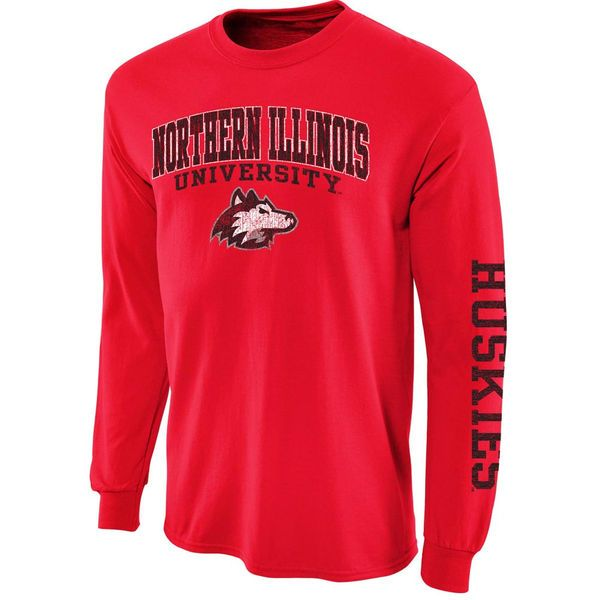 Northern Illinois Huskies New Agenda Distressed Arch & Logo Long Sleeve T-Shirt - Red - $16.99