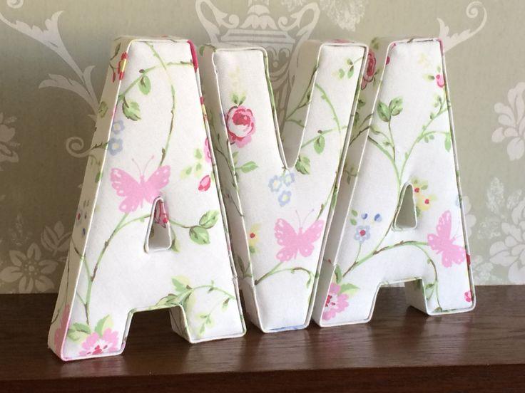 Decorative S Fabric Letters Free Standing Wall Mountable Nursery Bedroom Decor Christening Birthday Baby Shower Keepsake Uk