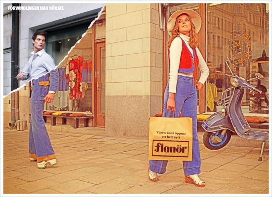 the Transformation has begun - ad for Flanör - Shopping Mall - Daniel Backman * Art Director