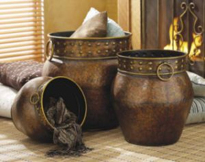 3 Tuscan Decor Bronze Hammered Iron Planter Vase  XL $219.95