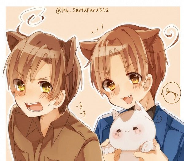 Neko!Italy X Neko!Reader X Neko!Romano- Cat's Life by
