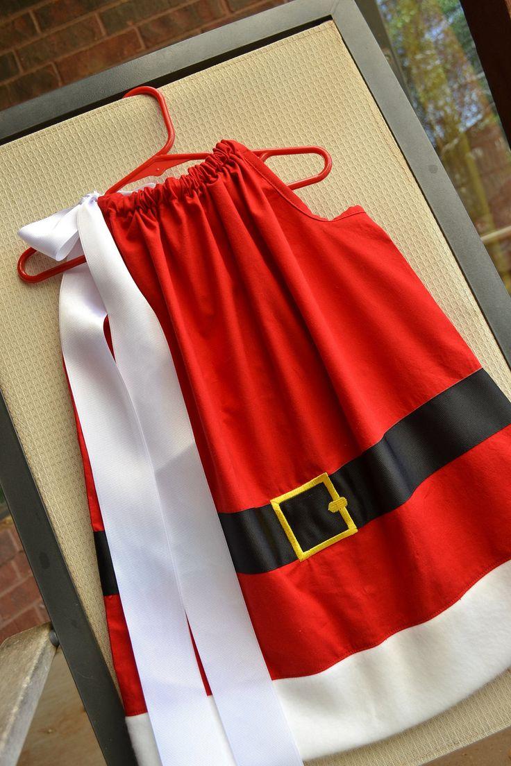 Girls Mrs. Santa Claus Christmas pillowcase dress Kids Clothing. $25.00, via Etsy.