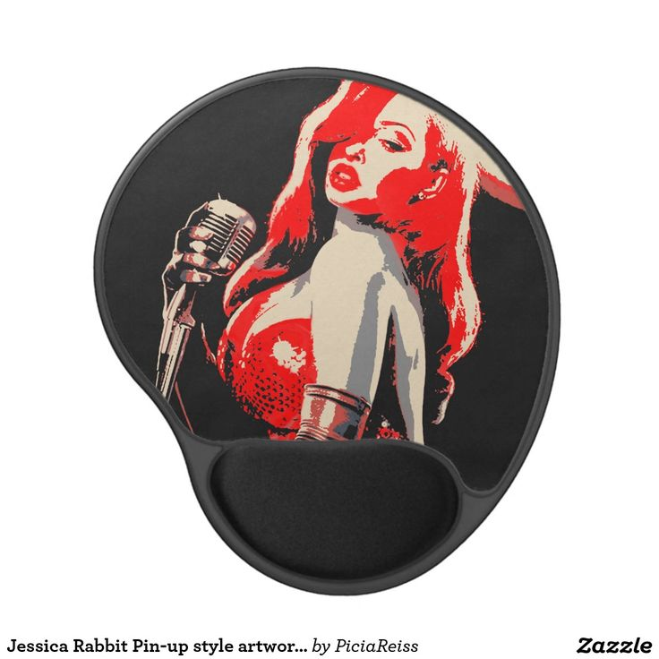 Jessica Rabbit Pin-up style artwork gel mouse pad