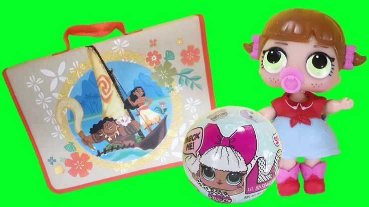 Watch this fun video with Disney Moana ArtFolio from the Disney Store and keychain plus we're opening a 7 layer surprise L.O.L. Lil Outrageous Little series ...