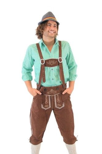 Oktoberfest German Bavarian Lederhosen Costume Pants, Men's, Size: 44
