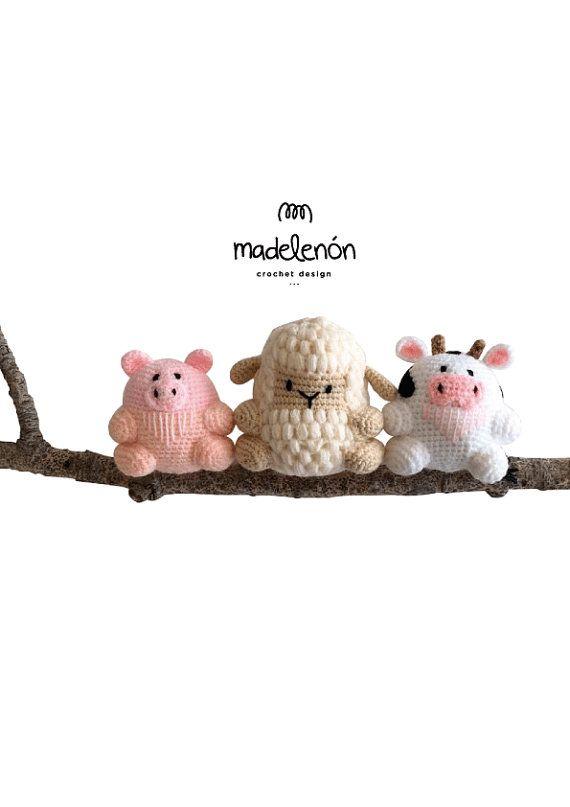 Madelenón-Patrón de crochetPDF Mi Granja por Madelenon en Etsy