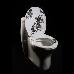 @Overstock - Add a fun, colorful touch to your bathroom decor with this contemporary toilet seat. This toilet seat features melamine construction.http://www.overstock.com/Home-Garden/Black-White-Floral-Designer-Melamine-Toilet-Seat-Cover/5298218/product.html?CID=214117 $28.90