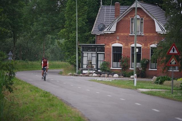 Fietsen in de omgeving van Appingedam, provincie Groningen