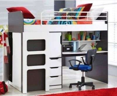 Kids bunk with desk for shipping container home