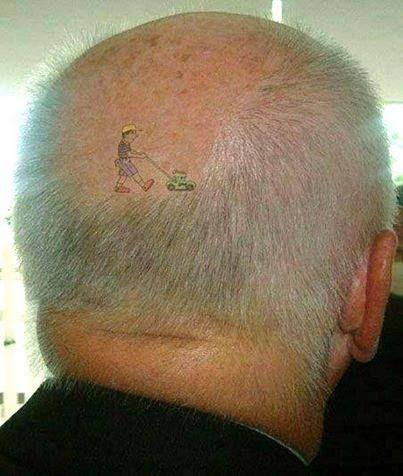 Tondeuse dans les cheveux