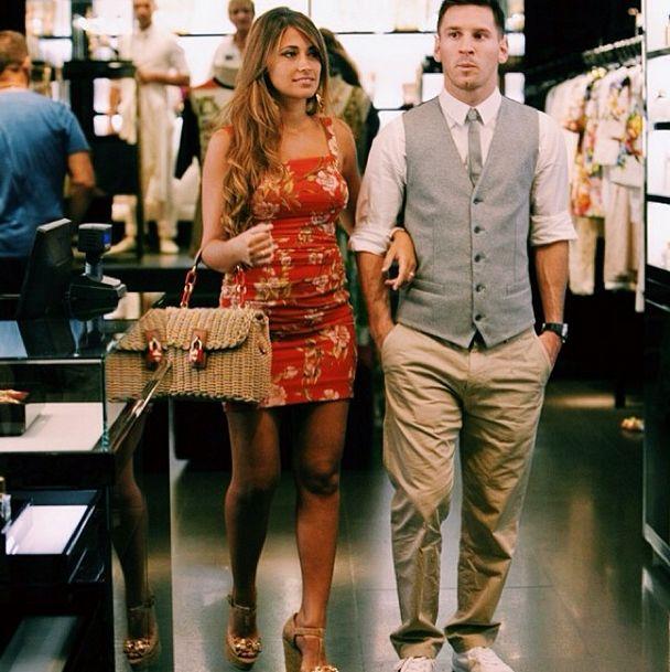 Lionel Messi y Antonella Roccuzzo, modelos en Capri