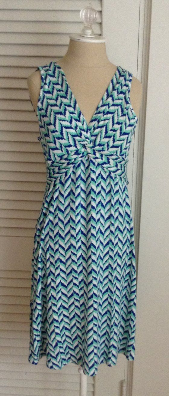 Stitch Fix Subscription Review – June 2014 - I love the pattern and v-neck on this dress.