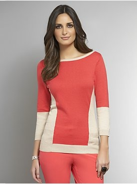 Colorblock Crew-Neck Sweater