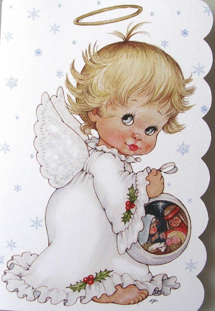 Morehead Baby Child Angel Halo Nativity Scene Christmas Holiday Greeting Card | eBay