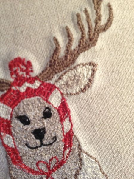 Embroidery Christmas cards from Bonito Fracaso by DaWanda.com