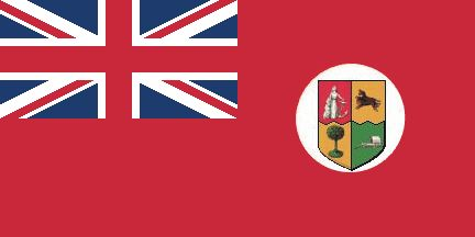 [flag of South Africa of 1912]  The Red Ensign's most prominent moment was probably when General Louis Botha, former Commandant-General of the Zuid-Afrikaanse Republiek forces, later Prime Minister of the Union of South Africa and Commander-in-Chief of the Union forces, hoisted it over Windhoek (in the then German South West Africa), after capturing that town from the Germans in 1915.