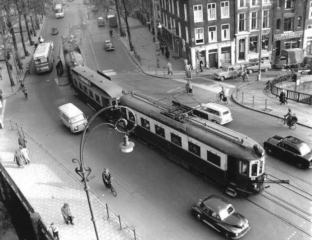 haarlemse tram op de Rozengracht