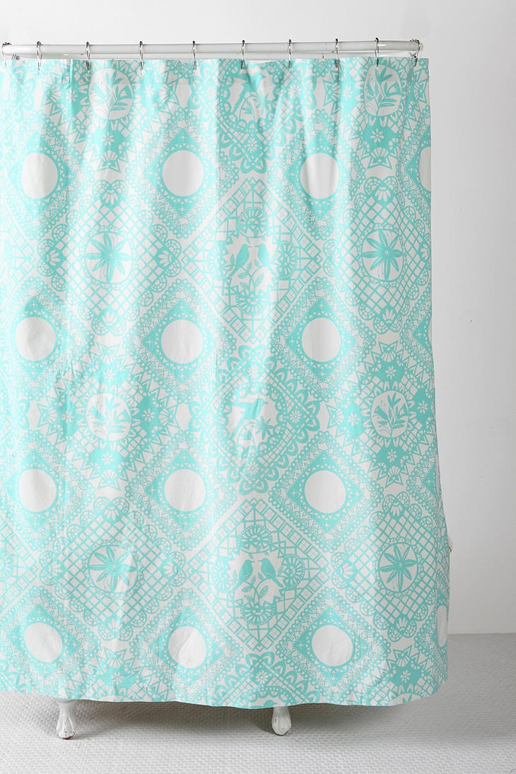 Restoration hardware shower curtain bee - Urbanoutfitters Com Papercut Shower Curtain