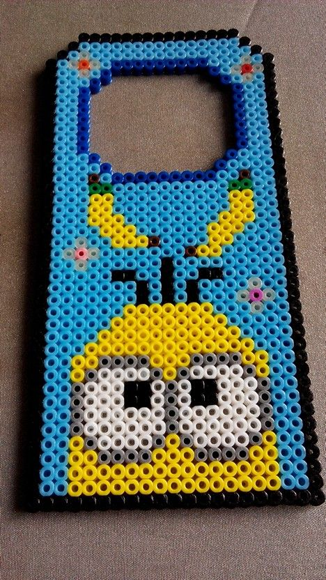 Minion door hanger hama beads by Lucia Chan