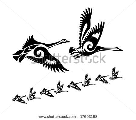 flock of geese tattoo - Google Search