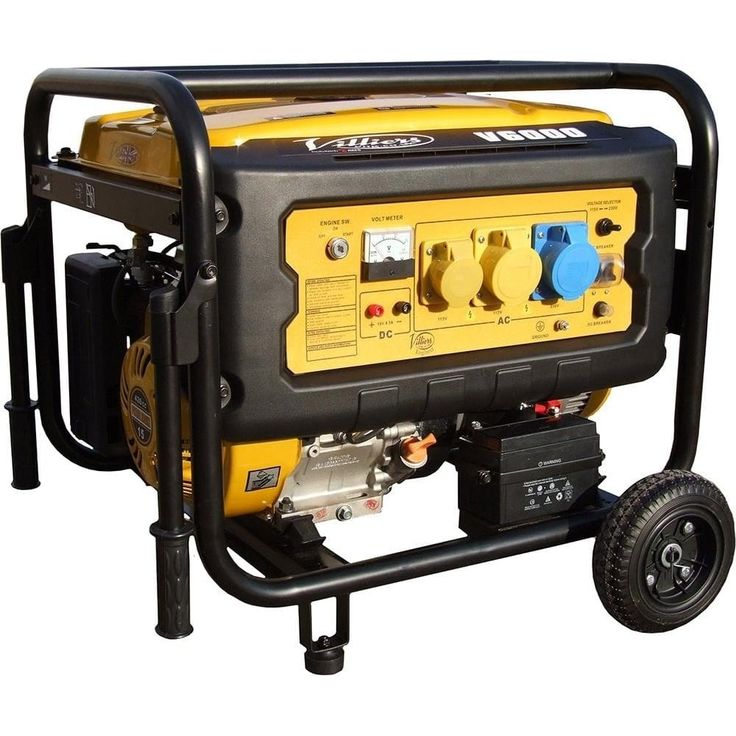 Villiers V6000ES 6kW Silent Petrol Generator - Petrol Silent Generators from pump.co.uk - W.Robinson & Sons (Ec) Ltd UK