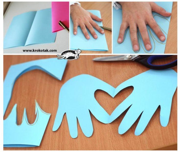 Un bricolage touchant à faire avec les enfants pour la Saint-Valentin!