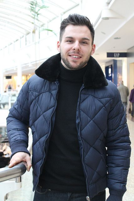 Our male stylist, Luke on the 1st day of #BFWSS14 wearing Schott Jacket & ASOS Rollneck #menswear #malebloggers