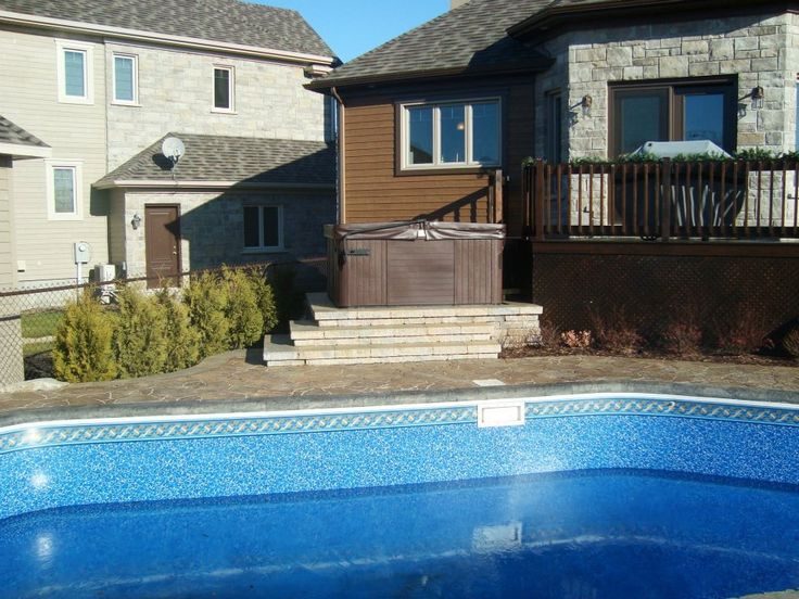 7 best Pavage pourtour de piscine creusée à Québec images on - amenagement autour piscine hors sol