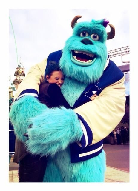 pictures of Miley Cyrus twerking are all over the Internet and and here we have demi lovato hugging him