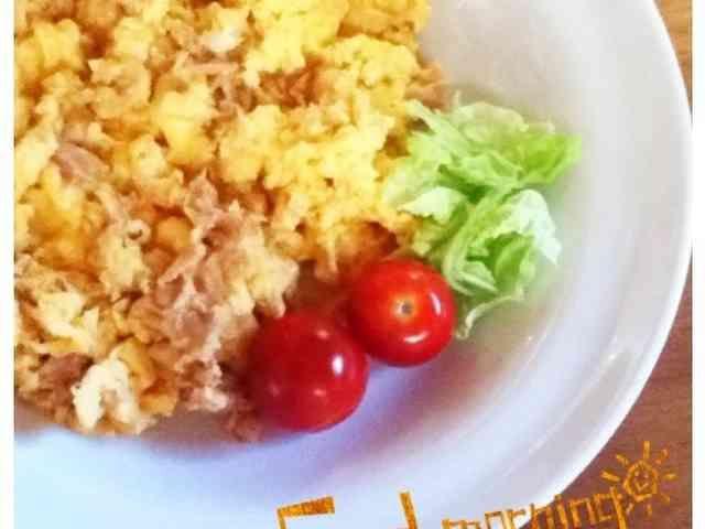 朝食に♡ツナ入りスクランブルエッグの画像