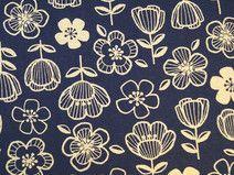 Canvas Blumen blau