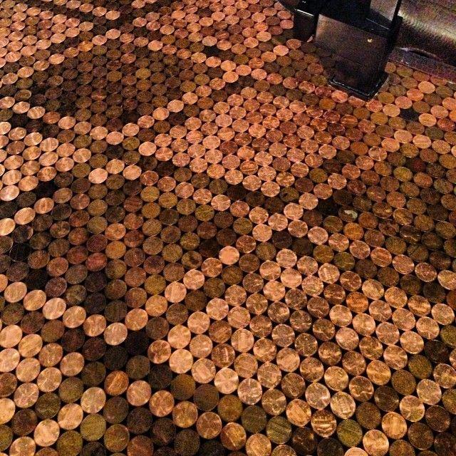 31 best penny tile step by step how to images on pinterest for Copper penny tile backsplash