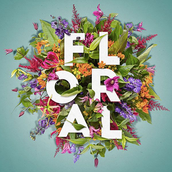 Composição Floral Tipográfica - Tutoriais Photoshop | ::Tutoriais Photoshop::