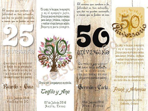WEDDING ANNIVERSARY BOOKMARK. 12 keepsake cards by GetSurprised